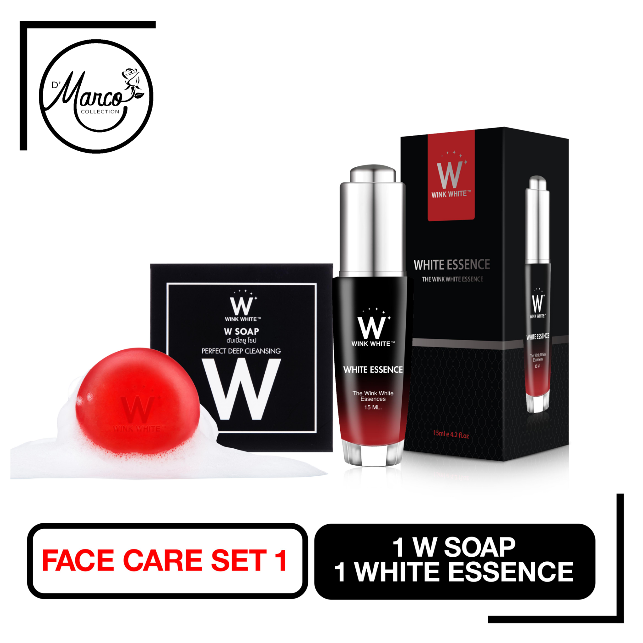 Facial Set 1, 1 W Soap, 1 White Essence