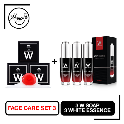 Facial Set 3, 3 W Soap, 3 White Essence