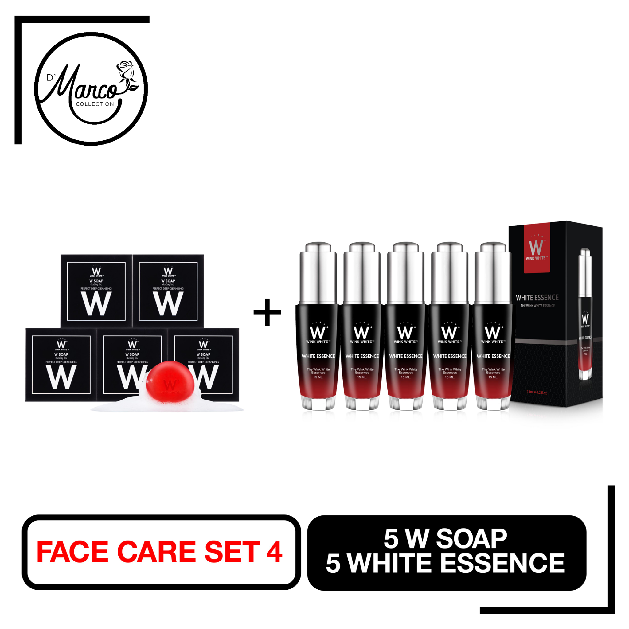 Facial Set 4, 5 W Soap, 5 White Essence