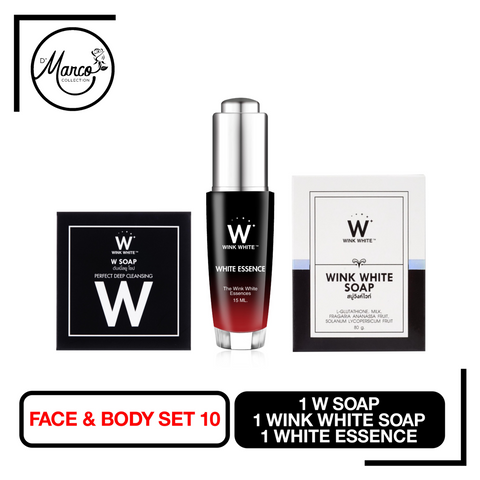 Set 10, 1 W Soap, 1 Wink White Soap, 1 White Essence