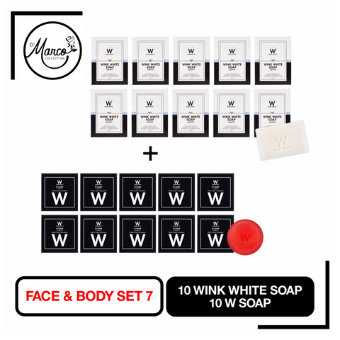 Set 7, 10 Wink White Soap, 10 W Soap