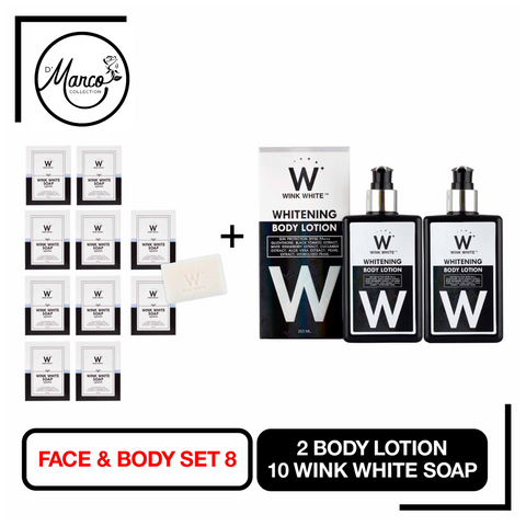 Set 8, 10 Wink White Soap, 2 Body Lotion