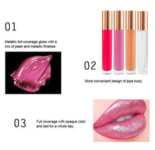 Load image into Gallery viewer, 7 Colors Gold Lid Round Tube  Lip Glosses