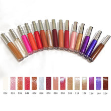 Load image into Gallery viewer, 15 Colors Rose Gold Lid Round Tube Lip Glosses
