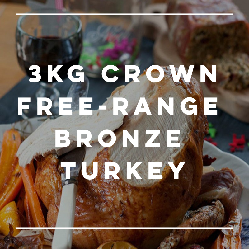 3kg Free-Range Bronze Turkey Crown