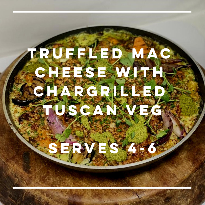 Truffled Macaroni Cheese with Chargrilled Tuscan Veg - large