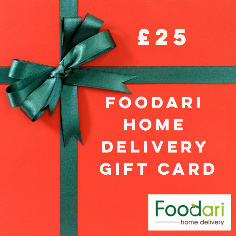 Foodari Home Delivery Gift Card - £25