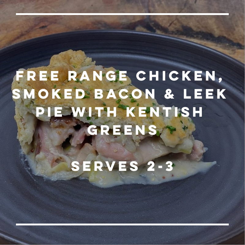 Free Range Chicken, Smoked Bacon & Leek Pie - small