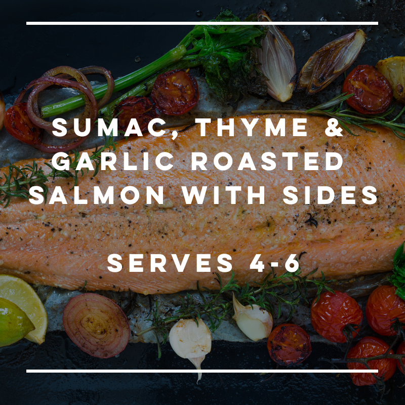 Sumac, Thyme & Garlic Roasted Salmon with Sides - large