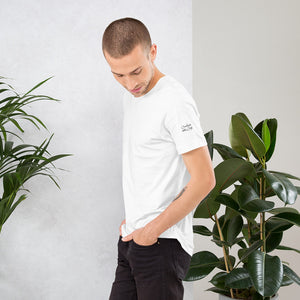 Short-Sleeve Unisex T-Shirt with Black and White logo