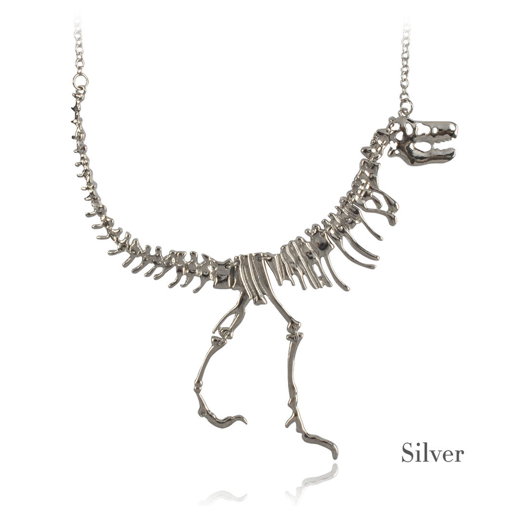 Fossil Jewelry T And Bq1444 Silver Dinosaur Necklace Pendant