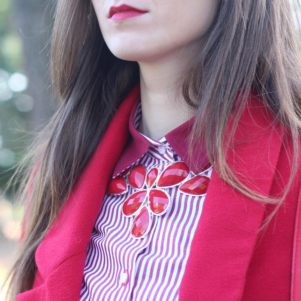 Floral Bib Necklace Fashion Jewelry