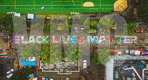 Black Lives Matter Street Mural | Capitol Hill | Seattle, WA | 6.11.2020 By Vivid Matter Collective(c)