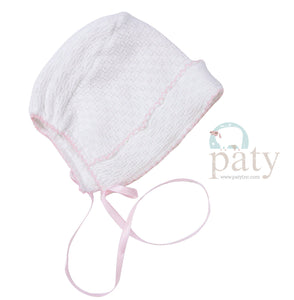Paty, Inc. Girl's Knit Bonnet w/Ribbon Tie