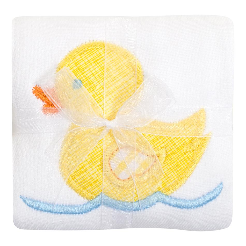 Appliqued Burp Cloth in Yellow Duck