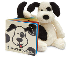Load image into Gallery viewer, Jellycat Bashful Puppy in Black & Cream Collection