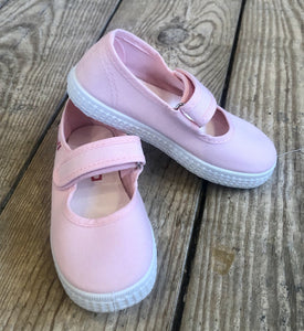 Cienta Girl's Canvas Mary Jane Shoes - Light Pink