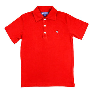 J. Bailey Boys S/S Solid Pima Polo Shirts - Red