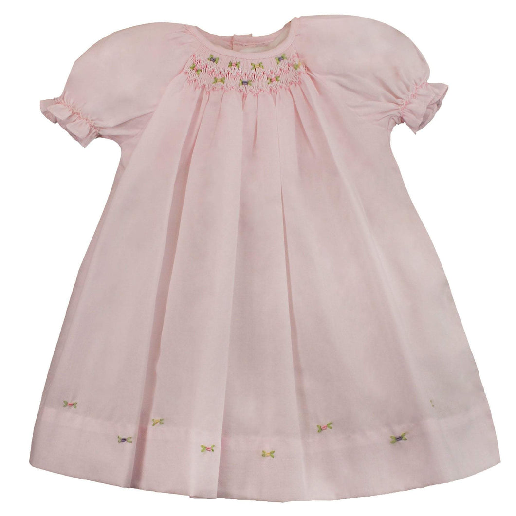 Petit Ami Smocked Day Dress in Light Pink
