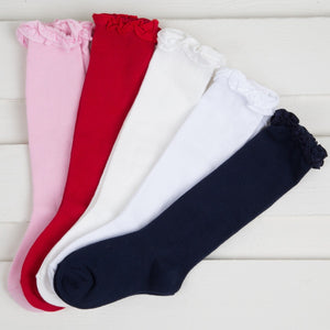Jefferies Ruffle Knee High Socks