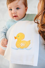 Load image into Gallery viewer, Appliqued Burp Cloth in Yellow Duck
