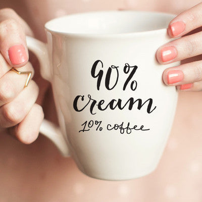 90% Cream Coffee Mug