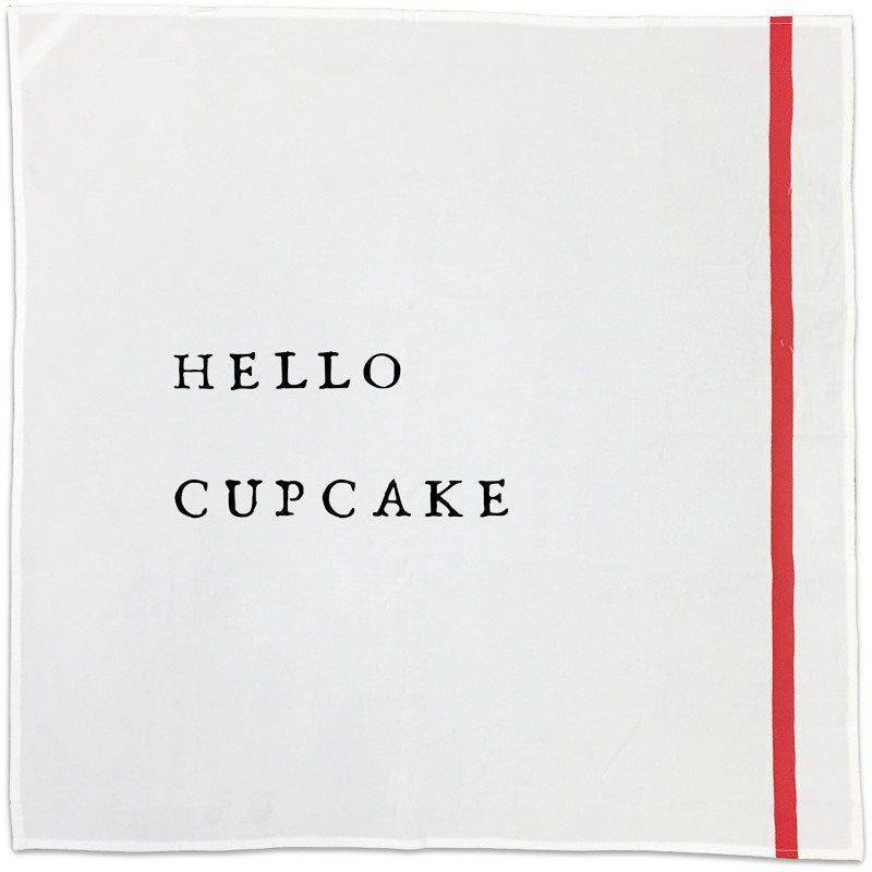 Hello/Salutations Cotton Napkins