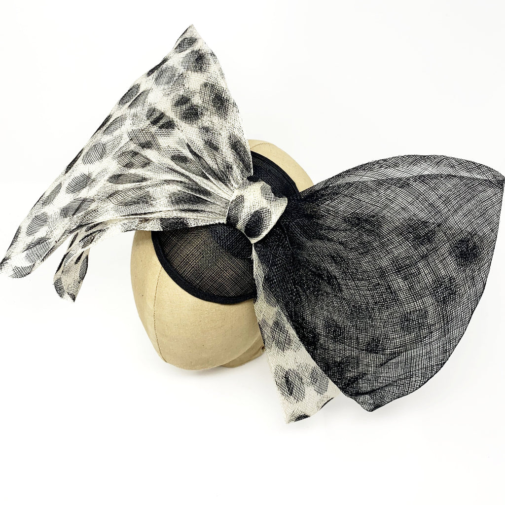 Black & White Bow Fascinator