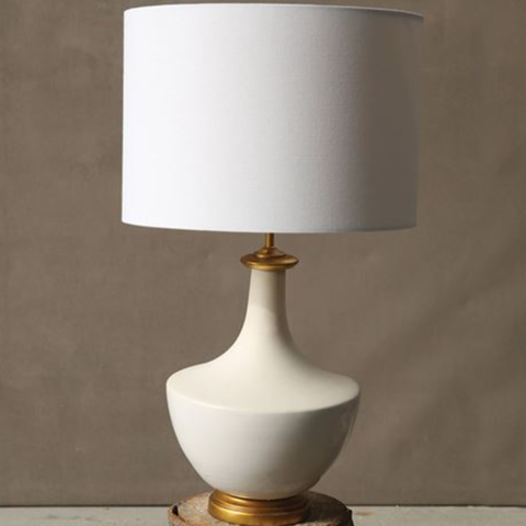 Linen Ceramic Table Lamp