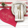 Heart Die-Cut Paper Placemats