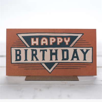 Birthday Badge Hand Lettered Card