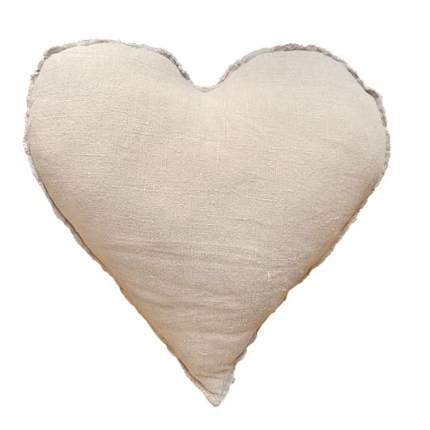 Heart Shaped Frayed Edge Pillow
