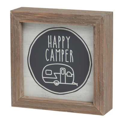 Happy Camper Barn Box Sign