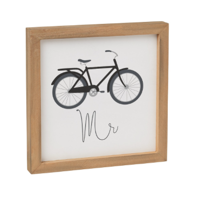 Mr. Bike Framed Box Sign
