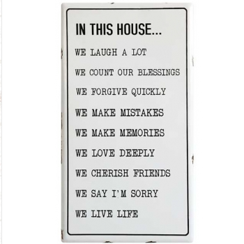 In This House Wall Plaque