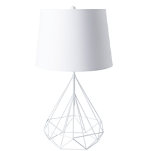 Fuller White Geometric Table Lamp