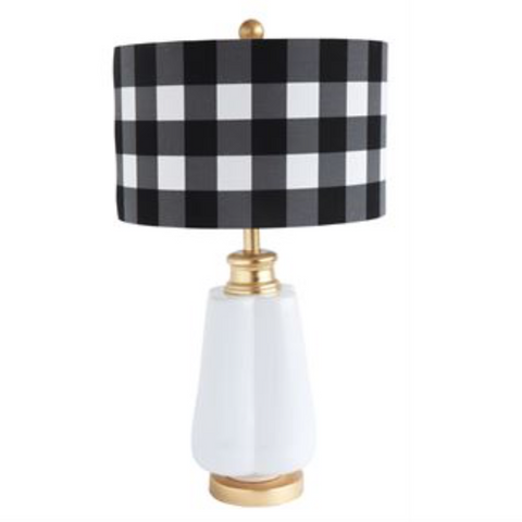 Buffalo Check Ceramic Table Lamp
