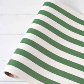 Dark Green Classic Stripe Runner