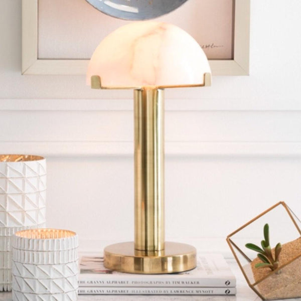 Marble Brass Lamp