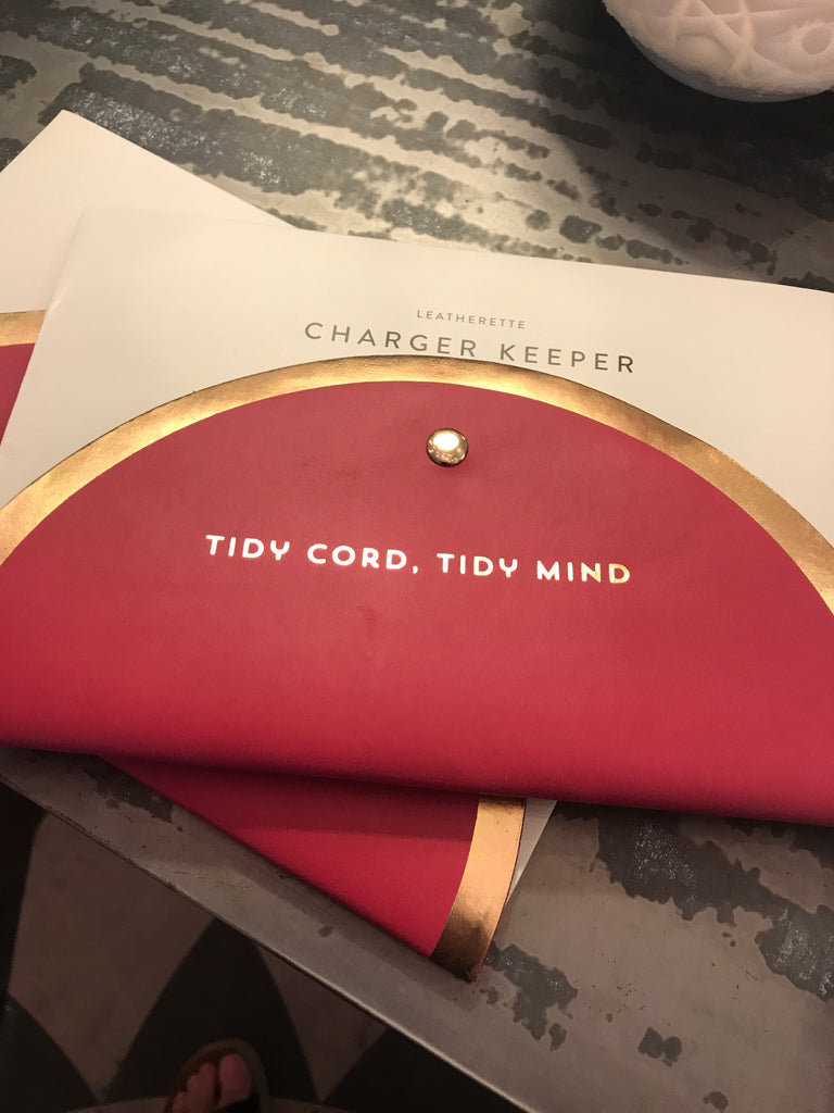Tidy cord charger keeper