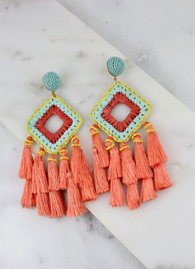 Mobley Woven Straw Earring