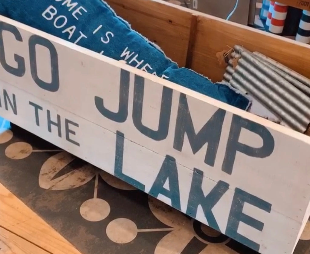 Go jump in the Lake cart