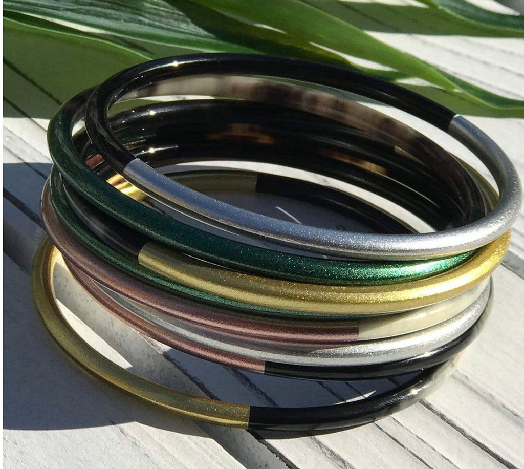 Colorful Metallic Horn Bangle Set
