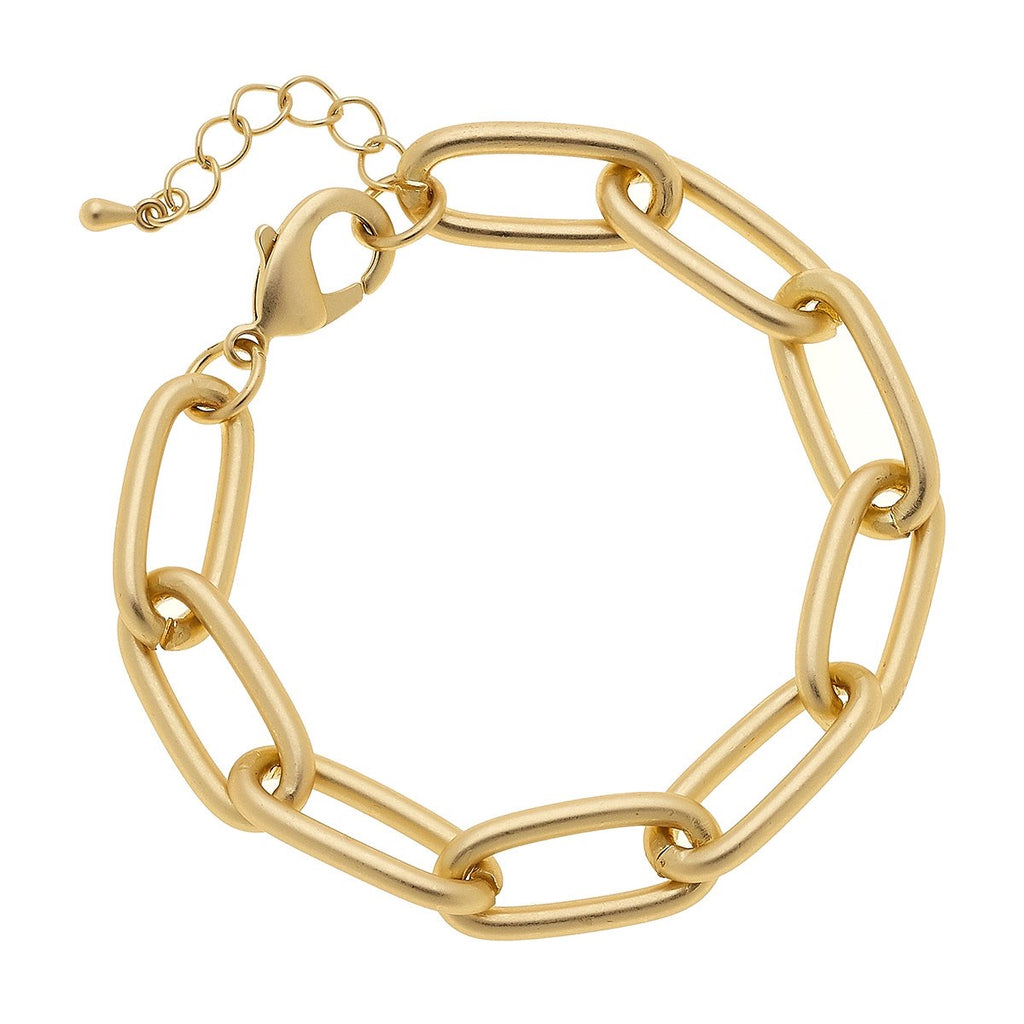 Liv Chain Link Bracelet in Matte Gold