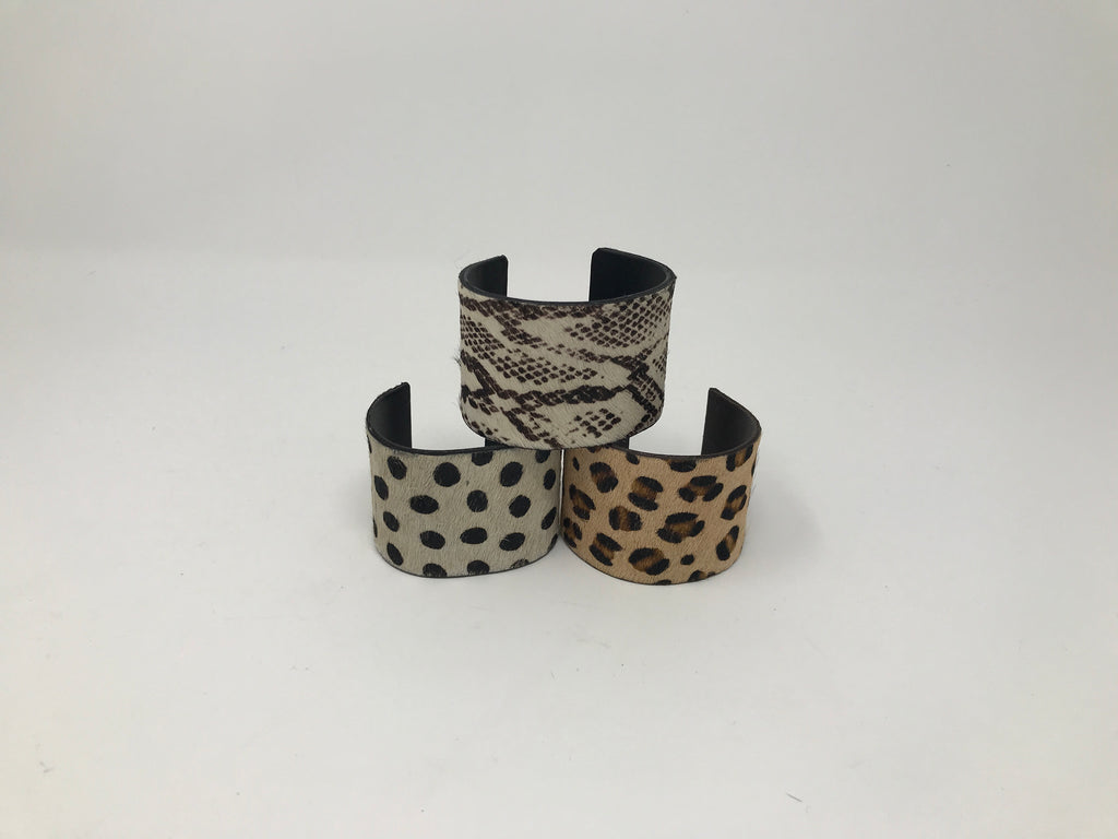 Animal Print Cowhide Cuff