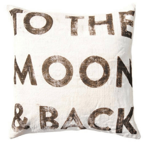 "24' X 24"" To The Moon and Back Pillow"