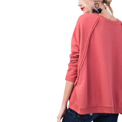 Red Bean Raw Edge Tunic