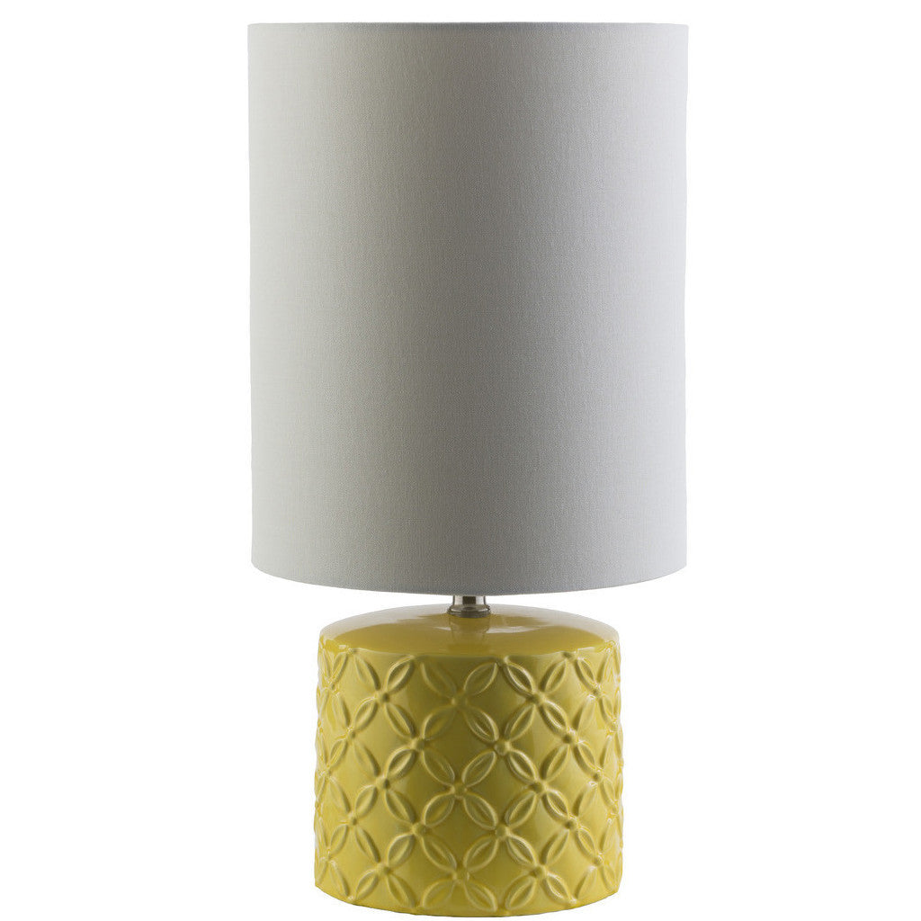 Yellow Ceramic Table Lamp