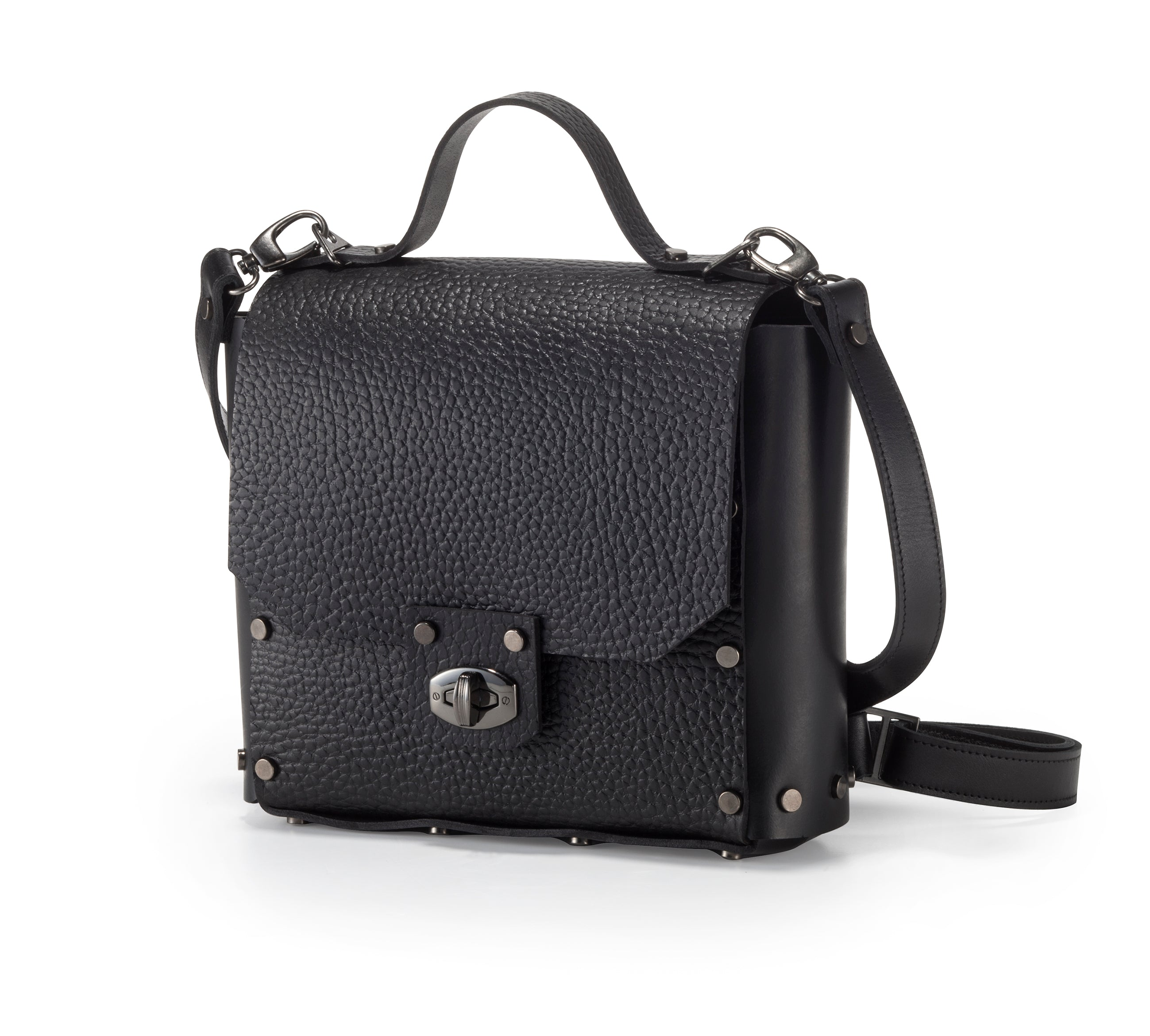 Rivet backpack texture leather - Collecte.studio
