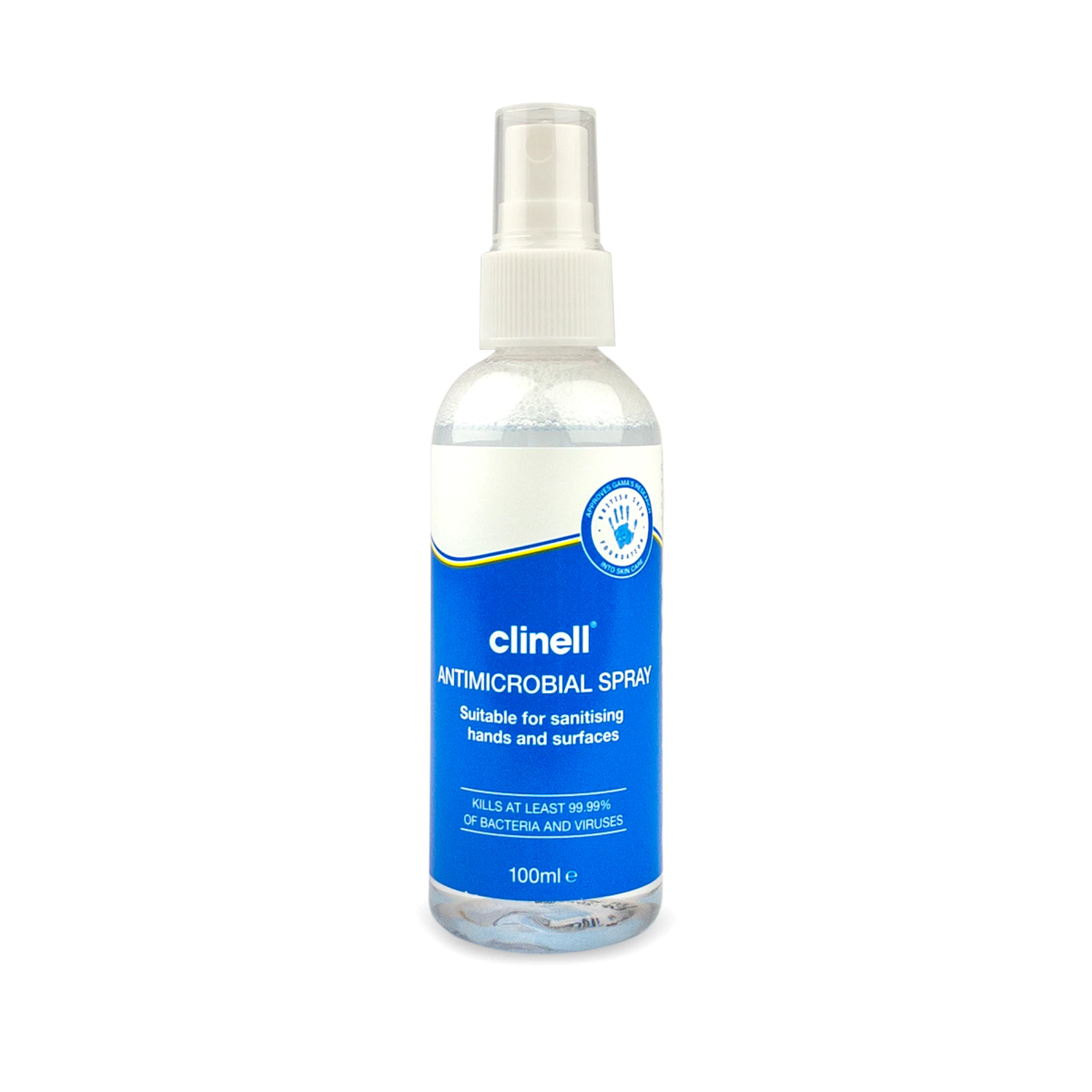 Clinell Antimicrobial Spray 100ml RAS10 for use on hands and surfaces
